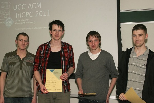 ACM Cert Award - (Left to Right) ACM Chapter guy, Me, Carl Lange, Keith Cully